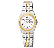 Seiko Womens Functional Solar Two-Tone Bracelet Watch - J315350