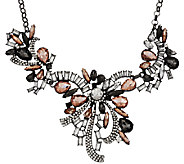 Joan Rivers Crystal Ribbons 18 Statement Necklace w/3 Extender - J318650