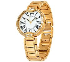 503a6ea9394 Bronze Pave  Crystal Bezel Round Panther Link Watch by Bronzo Italia -  J320750 - Watches