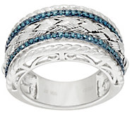 Color Diamond Woven Band Ring, Sterling, 1/4 cttw, by Affinity - J322150