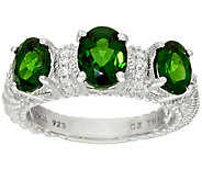 Judith Ripka Sterling_2.50 cttw Triple Chrome Diopside Ring - J324050