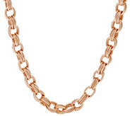 As Is Bronze 20 Textured Triple Rolo Link Necklace byBronzo Italia - J327650