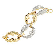 As Is Isaac Mizrahi Live! Bold Texture & Pave Link Bracelet - J327750