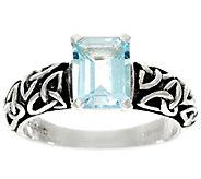 Solvar Sterling Silver Gemstone Trinity Knot Ring - J328450