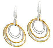 RLM Bronze Mulit-Color Hammered Wire Front Facing Earrings - J328850