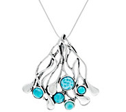 Hagit Sterling & Larimar Cabochon 18 Necklace - J329850