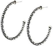 As Is JAI Sterling & Diamonique Croco Hoop Earrings - J330350