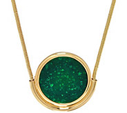 H by Halston 36 Round Pendant Necklace with Snake Chain - J330450
