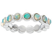 Jane Taylor Ethiopian Opal Sterling Silver Band Ring - J330950