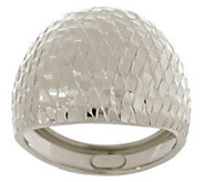 As Is EternaGold Brilliant Pattern Domed Band Ring 14K - J331850