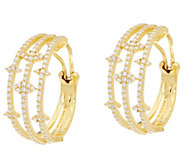 Judith Ripka 14K Clad 2.45 cttw Diamonique Multi Hoop Earrings - J334150