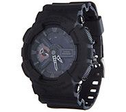 G-Shock Mens Analog Digital Black on Black Resin Watch - J347850