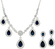 Carolee Upper East Side Montana Blue Crystal Necklace Set - J351050
