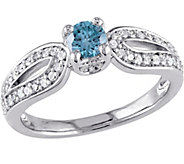 Blue Diamond Engagement Ring, 14K, 1/2 cttw, byAffinity - J376750