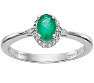 14K White Gold Emerald and Diamond Ring - J376950