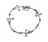 Hagit Sterling Cloverleaf Cross 7 Bracelet - J378150