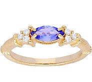 Judith Ripka 14K Gold Tanzanite Diamond  Ring - J379950