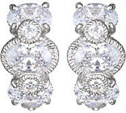 Judith Ripka Sterling Silver Diamonique Earrings - J380050