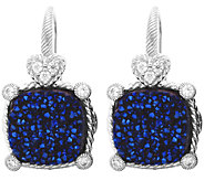 Judith Ripka Sterling Drusy Diamonique Earrings - J380250