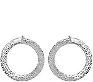 Italian Gold 1 Diamond-Cut Hoop Earrings 14K,2.2g - J382250