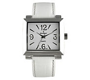 Peugeot Ladies Bold Square White Watch - J102751