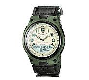 Casio Mens World Time Ana-Digi Green Watch - J106951