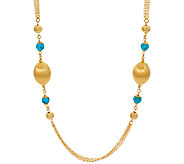Veronese 18K Clad 36 Gemstone & Satin Station Necklace - J270651
