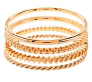 Jacqueline Kennedy Set of 4 Goldtone Bangle Bracelets - J271851