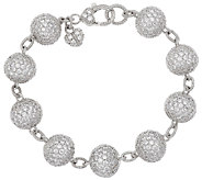 Judith Ripka Sterling & Diamonique Bracelet - J272551