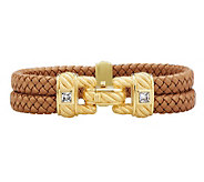 Judith Ripka Sterling/14K Gold Clad Braided Double Row Bracelet - J280751