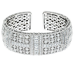 Product image of Judith Ripka Sterling Estate Pia 5.08cttw Wide Diamonique Cuff