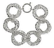As Is Sterling 7-1/4 Hammered Multi-link Bracelet, 30.5g - J286851