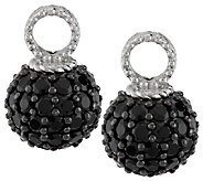 Judith Ripka Sterling 5.30ct Black Spinel Set of 2 Hoop Charms - J287751