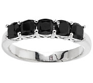 1.25 ct tw Black Spinel Cushion Cut Sterling Band - J289151