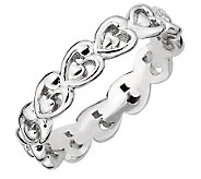 Simply Stacks Sterling Polished Heart Ring - J299151