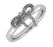 Simply Stacks Sterling & Diamond Bow Ring - J299251