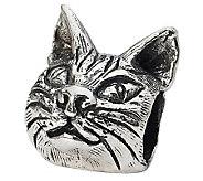 Prerogatives Sterling Maine Coon Cat Head Bead - J299551