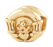 Prerogatives Gold-Plated Sterling Claddagh Bead - J302651