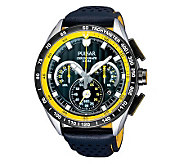 Pulsar Mens Chronograph Watch with Black Dial - J303651