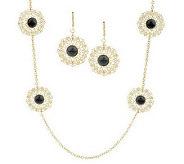 Round Filigree Station Necklace & Earring Set by Garold Miller - J306651