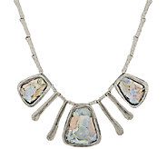 Or Paz Sterling Roman Glass Textured Drop Necklace - J317751