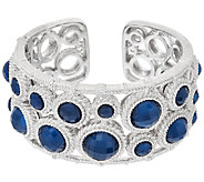 Judith Ripka Sterling & Blue Hematite Doublet Circle Cuff Bracelet - J320851