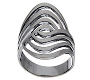Sterling Silver Polished Swirl Design Ring by Silver Style - J321351