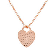 Bronze Diamond Cut Heart Pendant w/ 18 Chain by Bronzo Italia - J321751