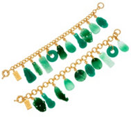 The Elizabeth Taylor Simulated Jade Charm Bracelets