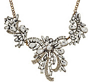 As Is Joan Rivers Crystal Ribbons 18 Statement Necklace - J327851