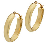 18K Gold 5/8 Polished Oval Hoop Earrings - J328651