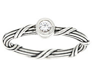 Peter Thomas Roth Sterling Signature Romance White Sapphire Ring - J329151