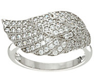 Diamonique Angel Wing Ring, Sterling - J329551
