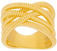 As Is Bronzo Italia Tubogas Style Crossover Ring - J329851